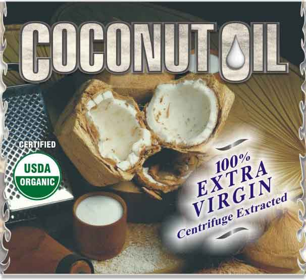 Coconut Oil (Centrifuge Extracted & Cold Pressed) 100% Extra Virgin - Kosher Approved & USDA Certified Organic!